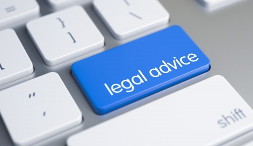 Legal Advice - Message on the Blue Keyboard Button